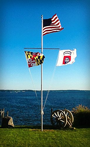 White - 20' Superior 1 Nautical Flagpole Kit