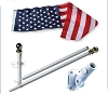 "Swivel 1"" Wall Mount Flagpole"