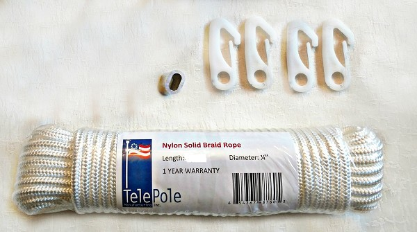 40' Nylon Flagpole Halyard Rope or Nautical Yardarm Rope